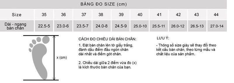 Top 10 giày chạy bộ nam - Sportmax sizes
