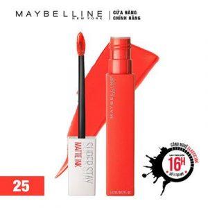 Top 10 son môi - Son kem lì Maybelline