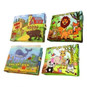 Top 10 Đồ Chơi Giáo Dục trẻ em 7 - Bộ 4 sách vải Pipovietnam