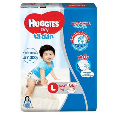 Top 5 Tã Dán cho bé - Huggies Dry