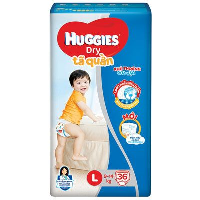 Top 5 Tã Quần cho bé - Huggies Dry