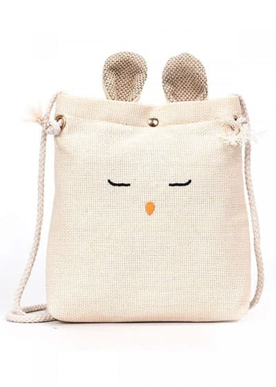 Túi cói đeo chéo mini tai thỏ BoTuSi