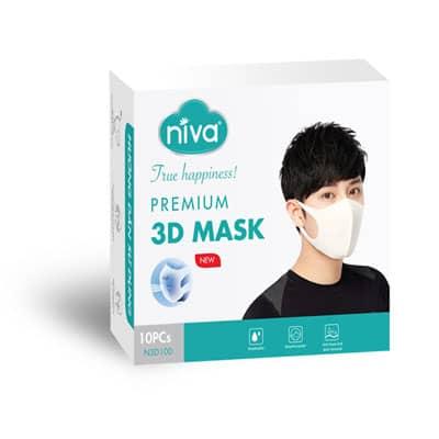 Hộp 10 chiếc khẩu trang 3D Niva thông minh bảo vệ sức khỏe an toàn